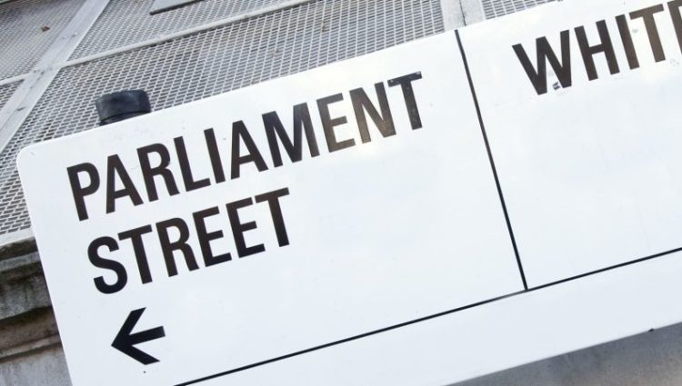 Photo of a sign for Parliament Street