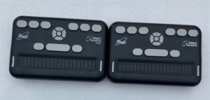 Photo of Orbit Reader 20 and Orbit Reader 20 Plus devices pictured side-by-side