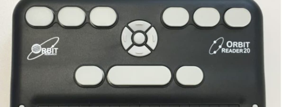 Photo of Orbit Reader 20 device.