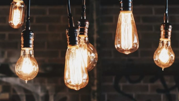 Photo of hanging light bulbs of various designs