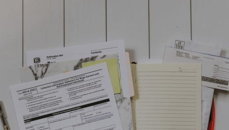 Photo of application forms