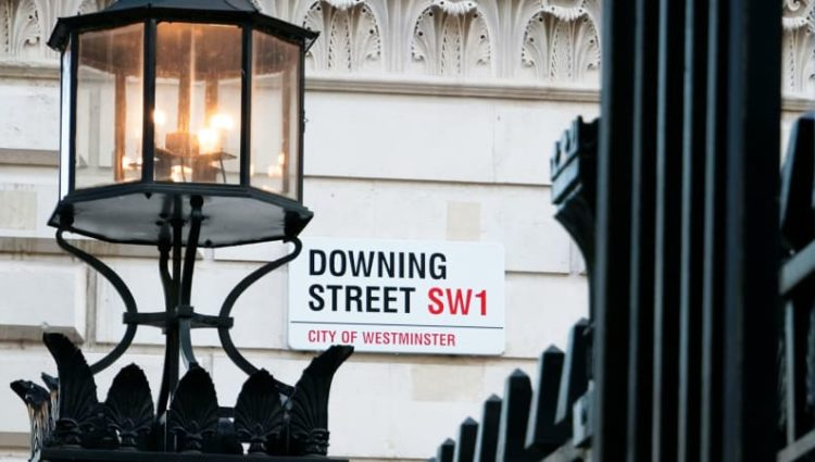 Photo of Downing Street sign
