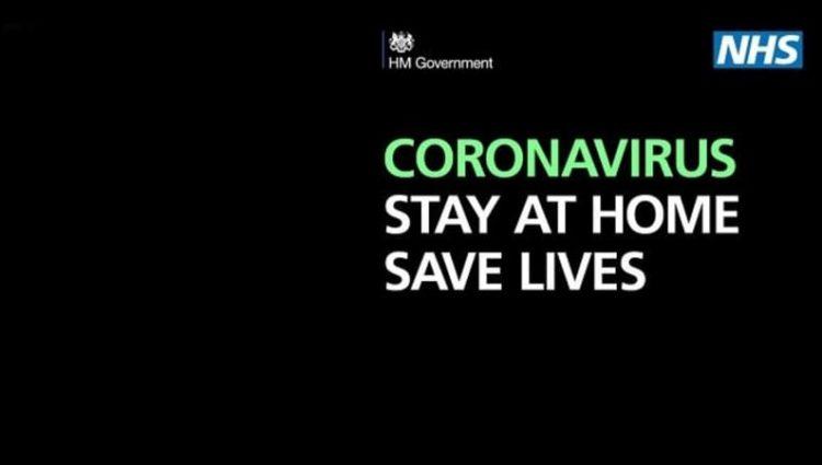 Coronavirus splash image: Stay at home, Save Lives.
