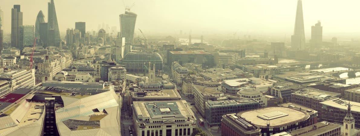 Skyline shot of London
