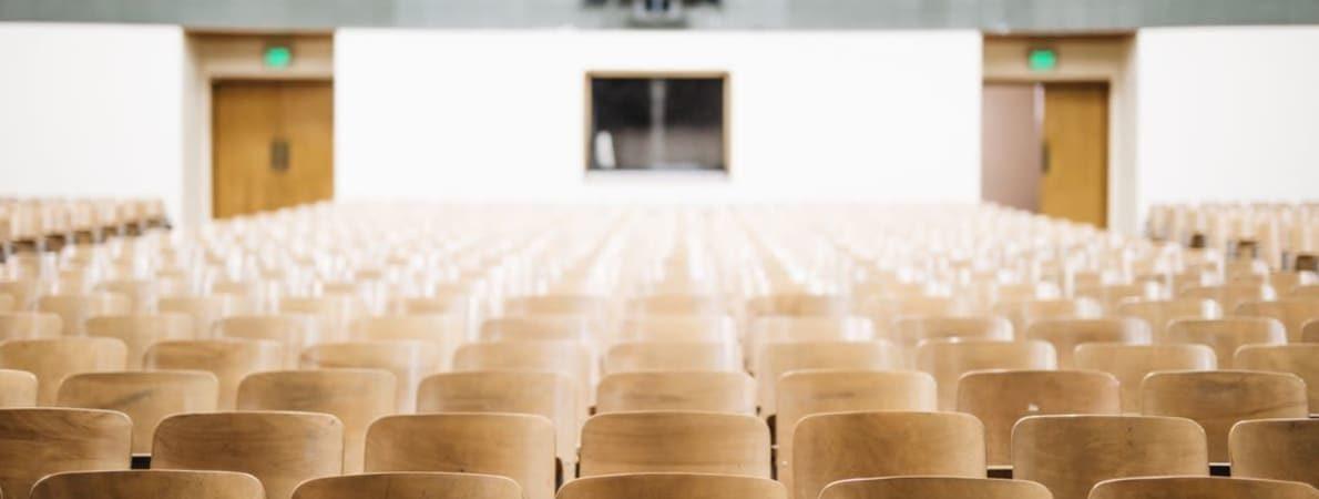 Lecture theatre empty