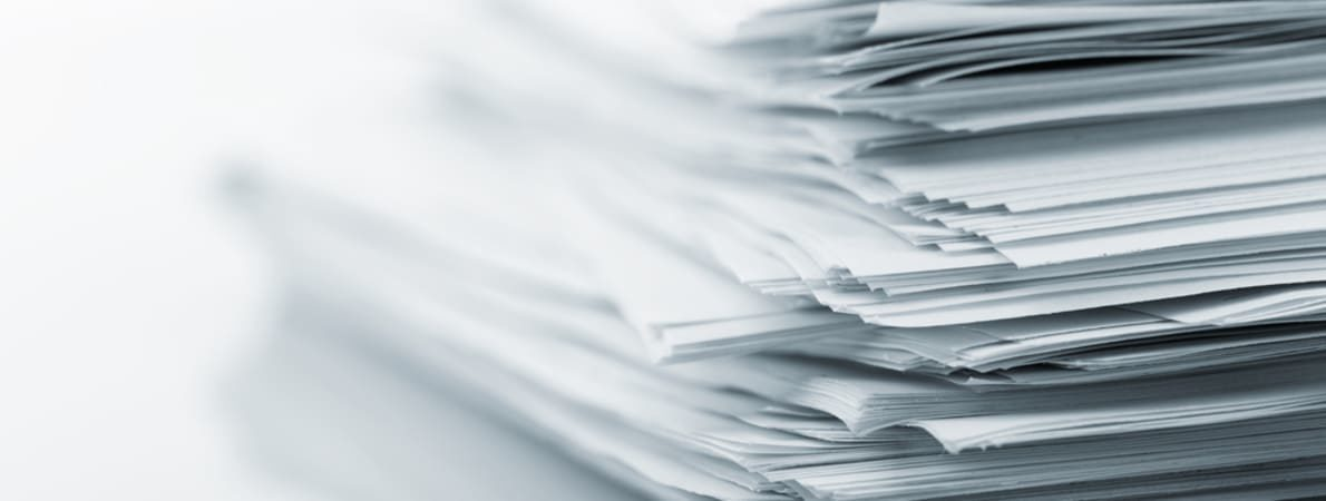 Photo of stack of papers