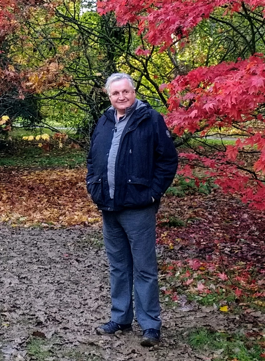 Full length shot of Alun stoody in a park