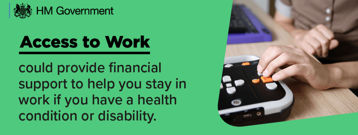 Access to Work banner