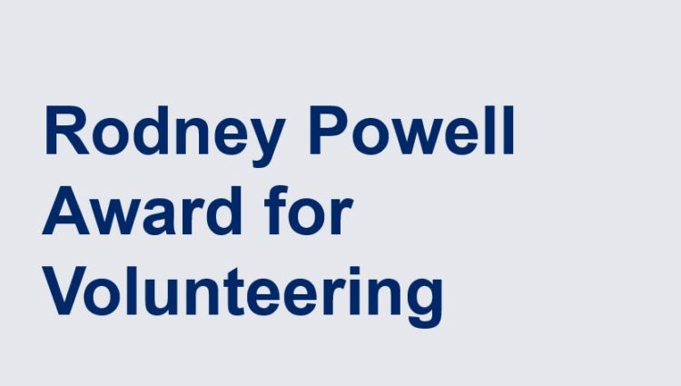 Rodney Powell Award for Volunteering with head and shoulders image of Rodney