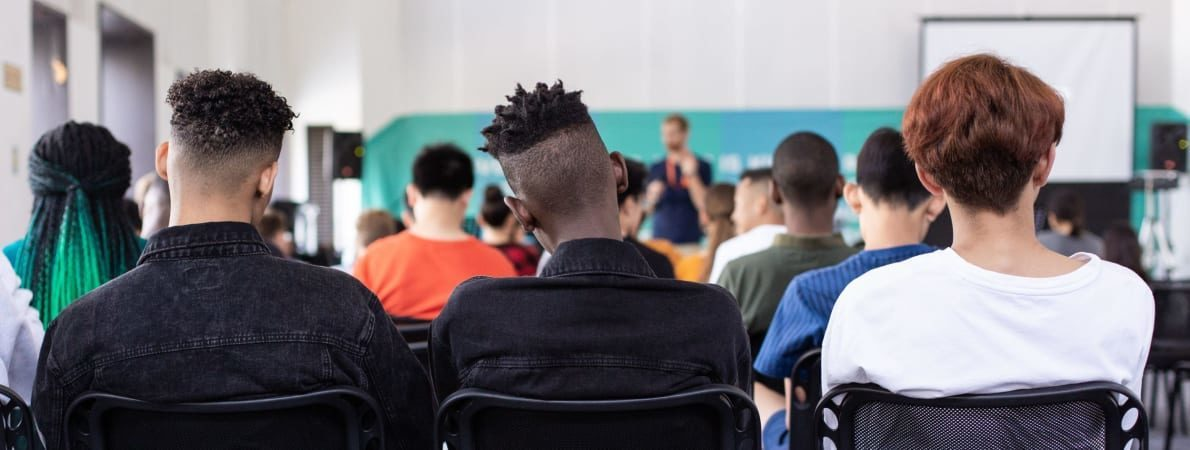 Photo of students in lecture hall