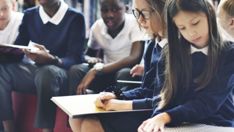 Children at school learning